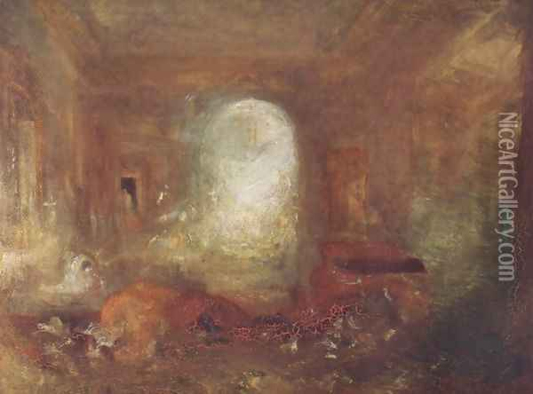 Interieur in the Petworth House Oil Painting - Joseph Mallord William Turner