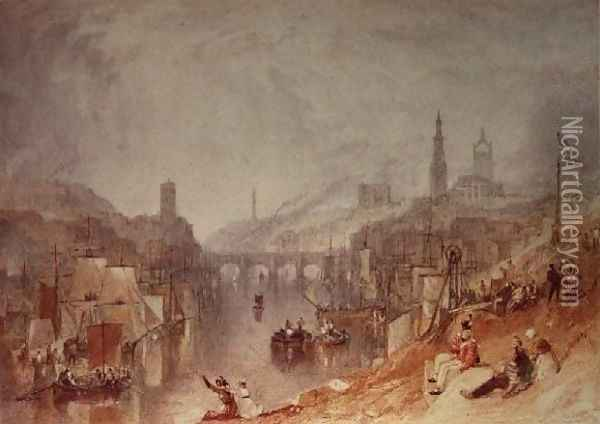 Newcastle Oil Painting - Joseph Mallord William Turner