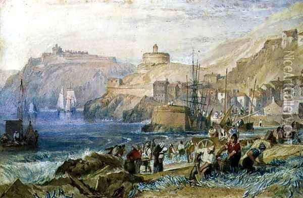 St. Mawes, Cornwall, c.1823 Oil Painting - Joseph Mallord William Turner