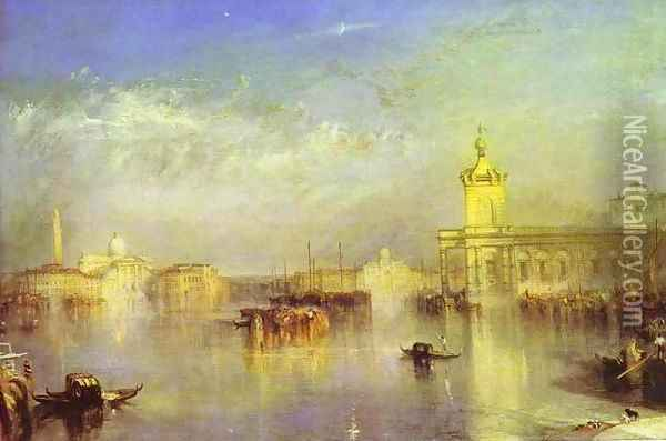 The Dogana, San Giorgio, Citella, From the Steps of the Europa Oil Painting - Joseph Mallord William Turner