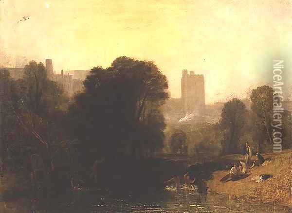 Near the Thames Lock, Windsor, c.1809 Oil Painting - Joseph Mallord William Turner
