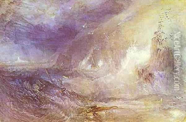 Longships Lighthouse, Lands End Oil Painting - Joseph Mallord William Turner