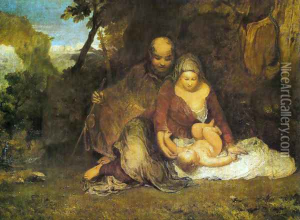 The Holy family Oil Painting - Joseph Mallord William Turner