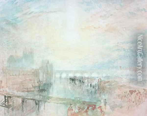 View of Lyons Oil Painting - Joseph Mallord William Turner