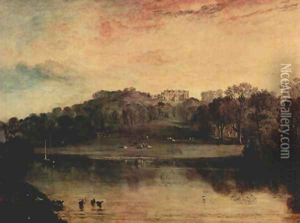 Hill with Turnbridge, domicile of the W.F. Woodgate Oil Painting - Joseph Mallord William Turner