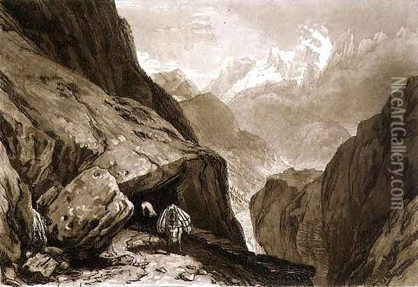 Mt. St. Gothard, from the Liber Studiorum, engraved by Charles Turner, 1808 Oil Painting - Joseph Mallord William Turner