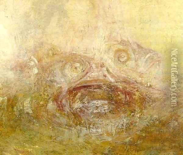 Sunrise with Sea Monsters (detail) Oil Painting - Joseph Mallord William Turner