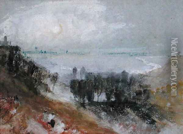 Tancarville, c.1830 Oil Painting - Joseph Mallord William Turner