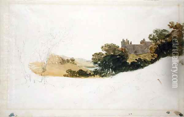 Linlithgow Palace, Scotland, 1801 Oil Painting - Joseph Mallord William Turner