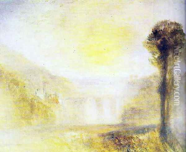 Bridge of the Spoleto towers Oil Painting - Joseph Mallord William Turner