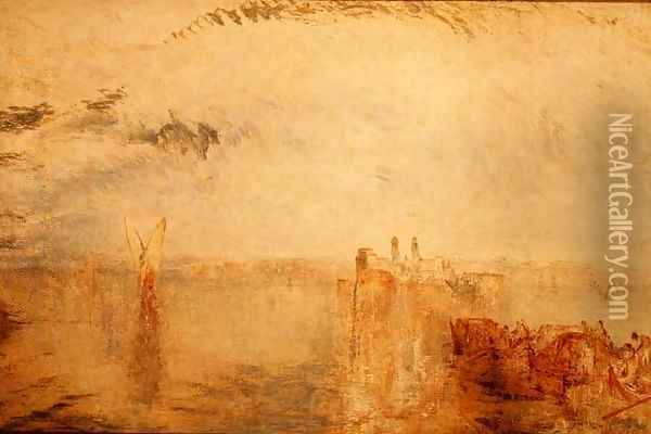 Returning from the Ball St. Martha c.1846 Oil Painting - Joseph Mallord William Turner