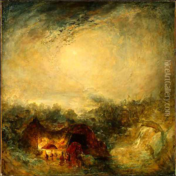 The Evening of the Deluge Oil Painting - Joseph Mallord William Turner
