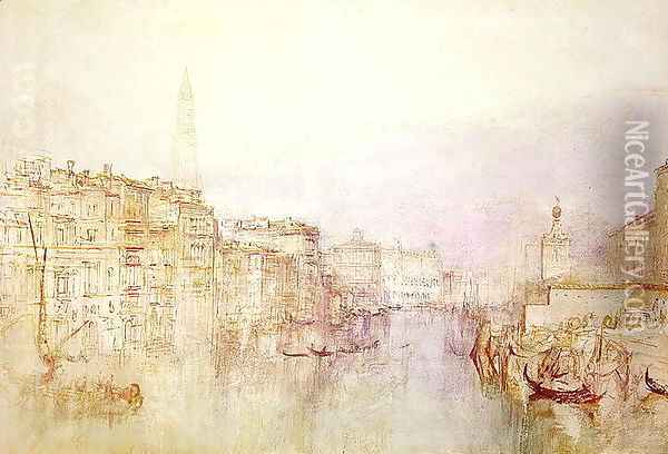 The Grand Canal looking towards the Dogana Oil Painting - Joseph Mallord William Turner