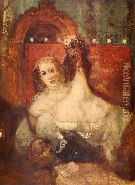 Two women and a letter Oil Painting - Joseph Mallord William Turner