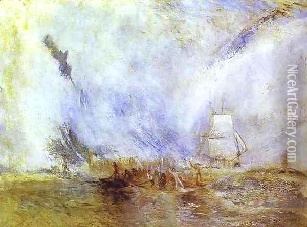 Whalers Oil Painting - Joseph Mallord William Turner