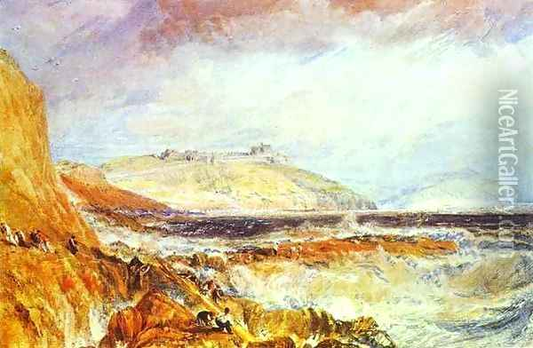 Pendennis Castle, Cornwall_ Scene after a Wreck Oil Painting - Joseph Mallord William Turner