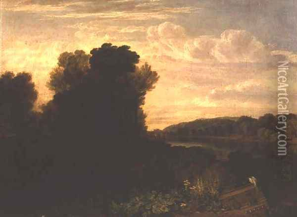 The Thames at Weybridge, c.1807-10 Oil Painting - Joseph Mallord William Turner