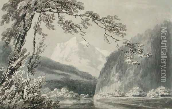 Near Grindelwald, c.1796 Oil Painting - Joseph Mallord William Turner