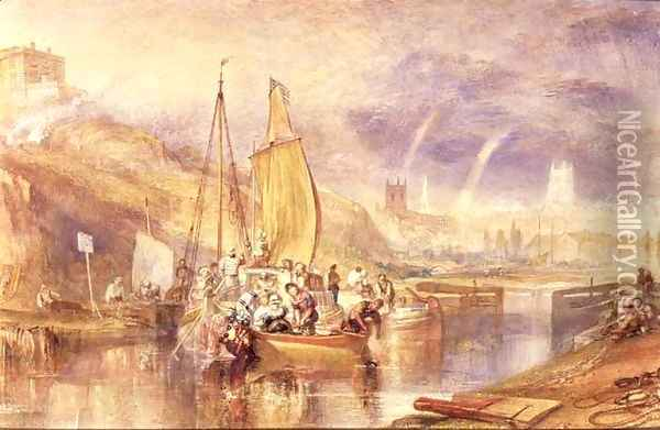 Nottingham Oil Painting - Joseph Mallord William Turner