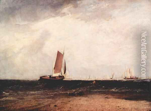 Fish at the Blythe sand Oil Painting - Joseph Mallord William Turner
