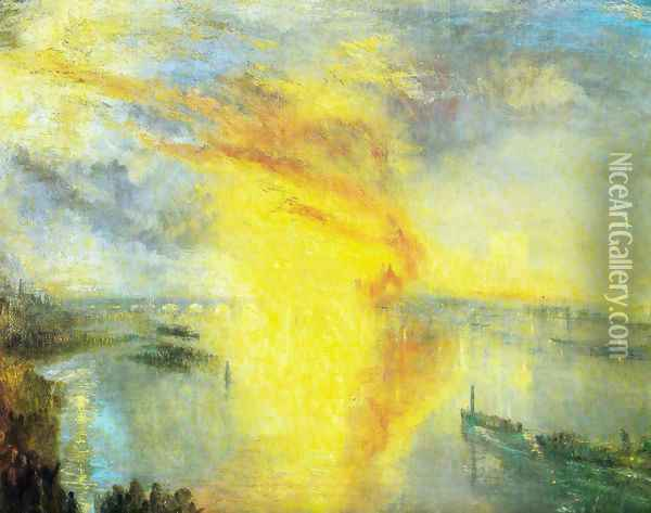 The fire of the parliament Oil Painting - Joseph Mallord William Turner