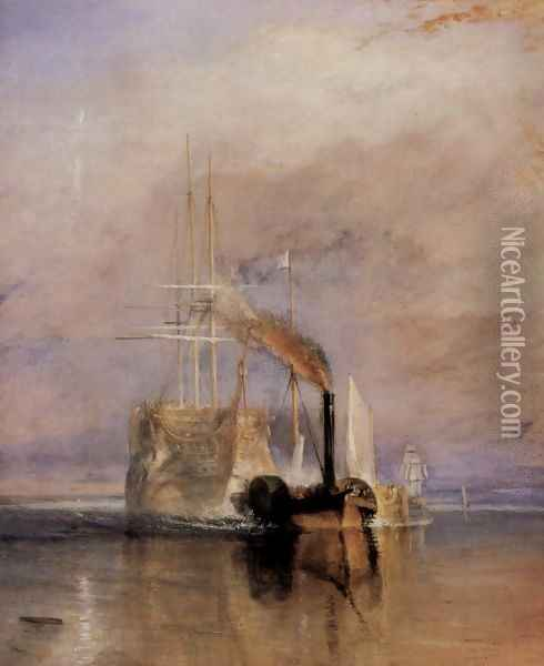 The last travel of the Fighting Témeraire, (detail) Oil Painting - Joseph Mallord William Turner
