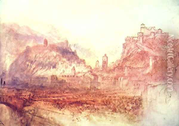 Bellinzona of the south Oil Painting - Joseph Mallord William Turner