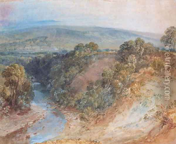 Valley of the Washburn, 1818 Oil Painting - Joseph Mallord William Turner