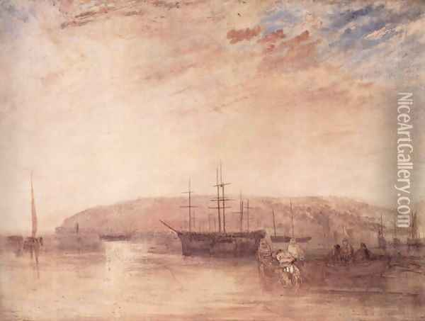 Navigation before the land of East Cowes Oil Painting - Joseph Mallord William Turner