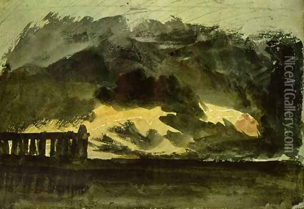 Paestrum in the storm Oil Painting - Joseph Mallord William Turner