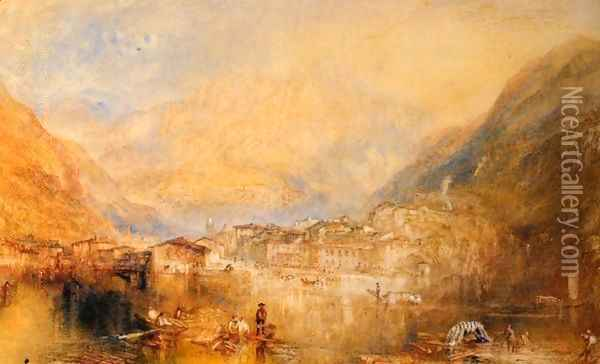 Dartmouth Castle, on the River Dart Oil Painting - Joseph Mallord William Turner