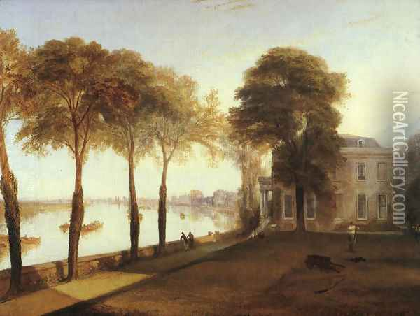 Mortlake Terrace Early Summer Morning 1826 Oil Painting - Joseph Mallord William Turner