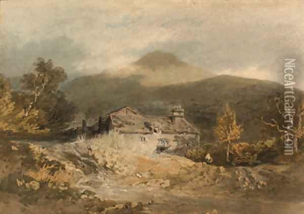 A mill in North Wales Oil Painting - Joseph Mallord William Turner