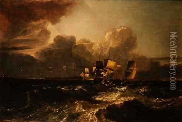 Ships Bearing up for Anchorage Oil Painting - Joseph Mallord William Turner