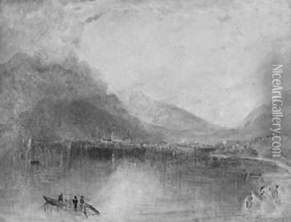 Arth On The Lake Of Zug, Early Morning Oil Painting - Joseph Mallord William Turner
