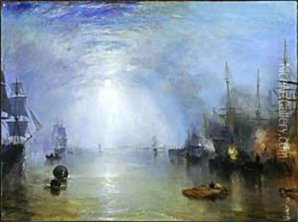 Keelmen Heaving in Coals by Moonlight Oil Painting - Joseph Mallord William Turner