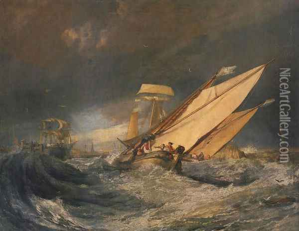 Fishing Boats Entering Cal 1803 Oil Painting - Joseph Mallord William Turner