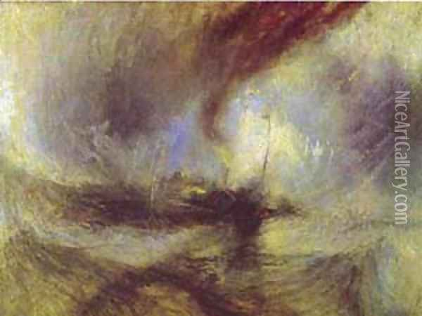 Snow Storm Steam Boat Off A Harbours Mouth 1842 Oil Painting - Joseph Mallord William Turner
