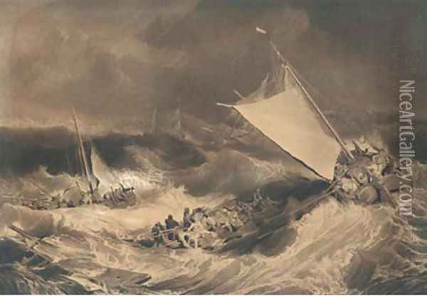 A shipwreck, by C. Turner Oil Painting - Joseph Mallord William Turner