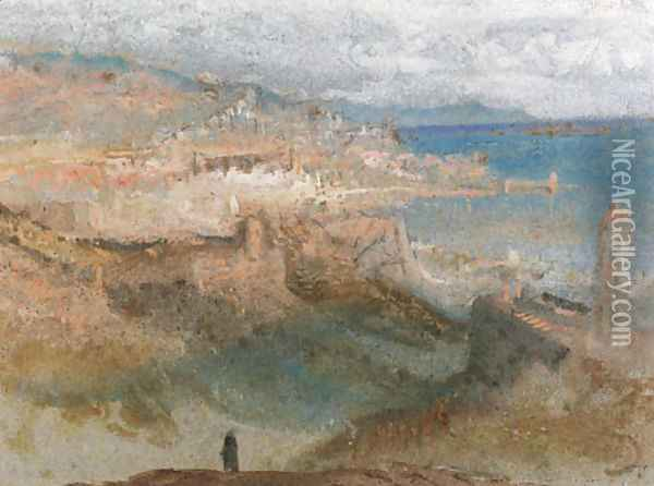 View of Genoa, Italy Oil Painting - Joseph Mallord William Turner