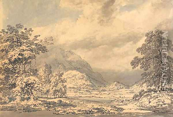 Looking south into Borrowdale, Lake District Oil Painting - Joseph Mallord William Turner
