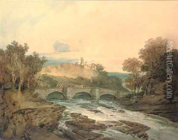 Possibly Dilston Castle, Northumberland Oil Painting - Joseph Mallord William Turner