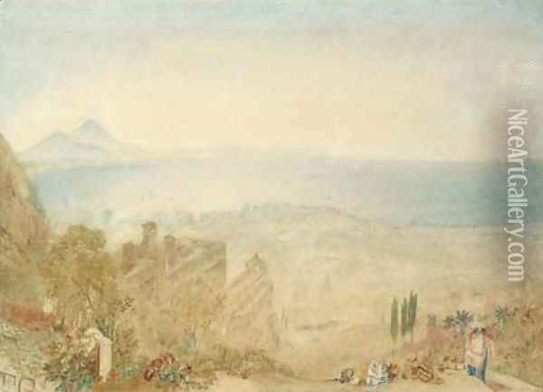 View of Naples with Vesuvius in the distance, morning Oil Painting - Joseph Mallord William Turner