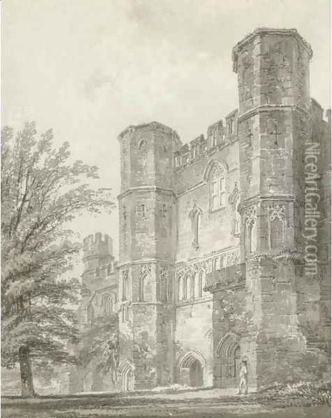 The Abbey Gate, Battle Abbey, Sussex Oil Painting - Joseph Mallord William Turner