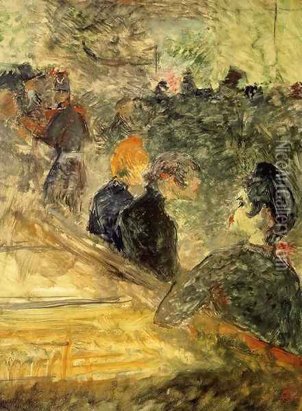 A Ball at the Moulin de la Galette Oil Painting - Henri De Toulouse-Lautrec