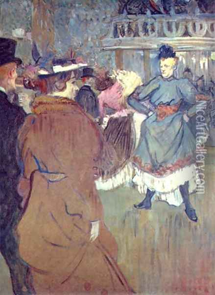 In The Moulin De La Galette Iii Oil Painting - Henri De Toulouse-Lautrec