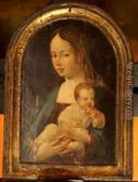 Maria Withchild Oil Painting - Joos Van Cleve