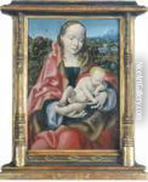 The Virgin And Child Oil Painting - Joos Van Cleve