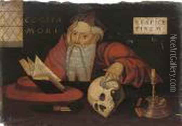 Saint Jerome In His Study Oil Painting - Joos Van Cleve