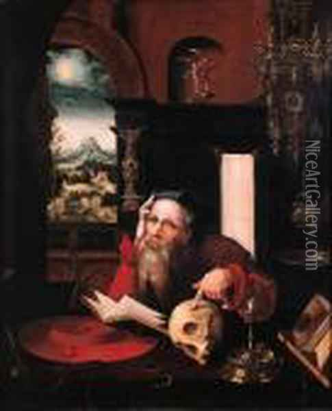 Saint Jerome Oil Painting - Joos Van Cleve